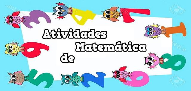 Atividades de matemática 6° ano