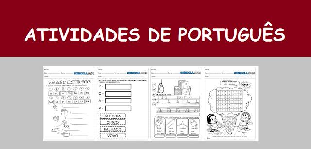 Atividades de Português 1º ano
