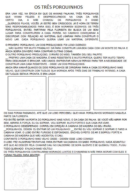 Contos de Fadas com apoio de imagens sequenciadas