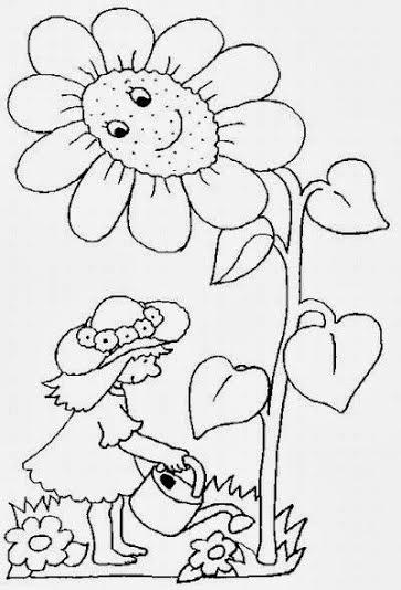 Desenhos para Colorir sobre a Primavera — SÓ ESCOLA