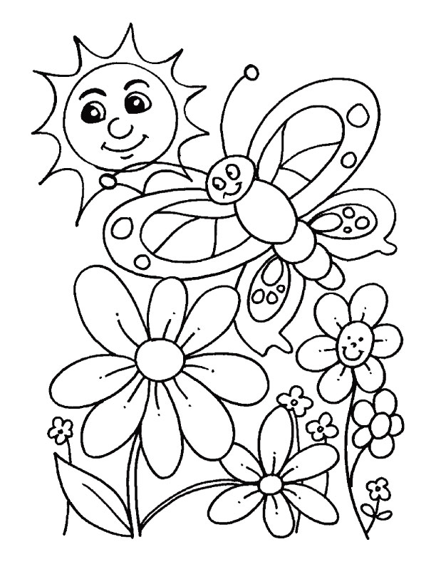 Desenhos Da Primavera Para Colorir So Escola
