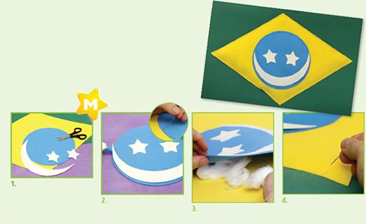 Bandeira do Brasil de EVA