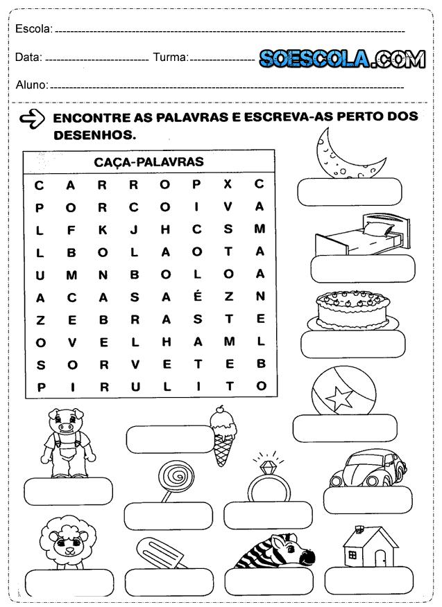 Atividades para o 2° ano de português