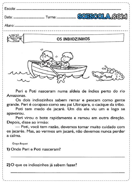 Atividades de português 3° ano do ensino fundamental