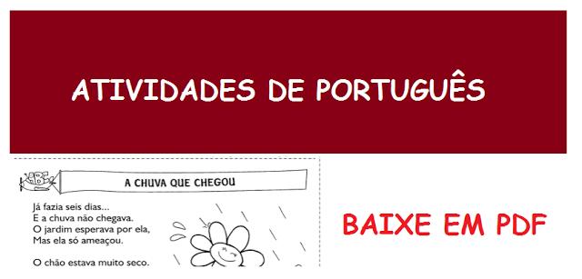 BAIXE EM PDF- 19 Atividades de português