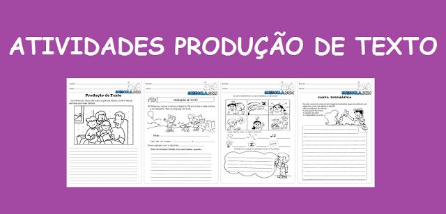 Diversas atividades de produção de texto para ensino fundamental. Baixe tudo com apenas um Clique e com uma excelente qualidade.