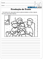 Atividades de produção de texto para o 1°, 2° e 3° ano do ensino fundamental