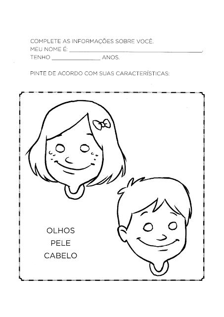 Atividades sobre Identidade para Educação Infantil