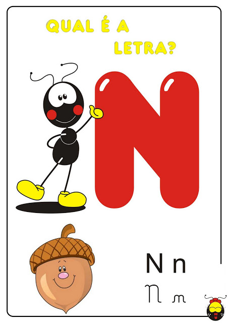 Leitura de imagens alfabeto Colorido