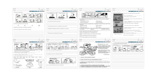 Diversas atividades de Interpretação de Texto com Tirinhas