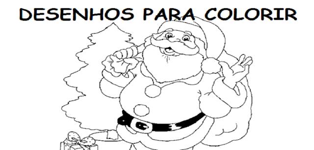 Desenhos de Papai Noel para colorir, contendo imagens do bom velhinho entrando pela chaminé, entregando presentes, sorrindo, brincando e passando a mensagem de ajuda, felicidade e paz.