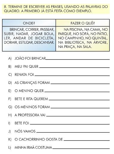 Advérbios Exercícios Atividades 3 4 5 Anos Para Imprimir Só Escola