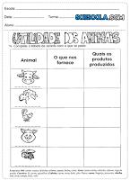 Atividades de ciências 2° ano animais