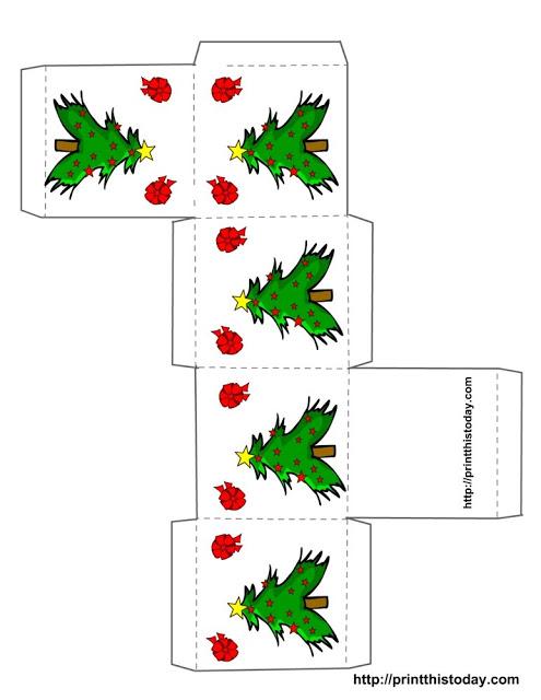 Moldes De Caixinhas Para Lembrancinhas De Natal Para Imprimir 11