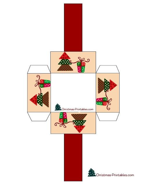 Moldes De Caixinhas Para Lembrancinhas De Natal Para Imprimir 17