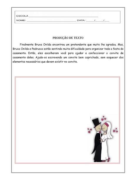 Continue o Texto - O Casamento da Bruxa Onilda
