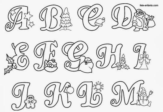 Moldes: Alfabeto Natalino