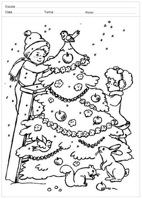Arvores De Natal Para Colorir Para Colorir Bem Bonito Só Escola