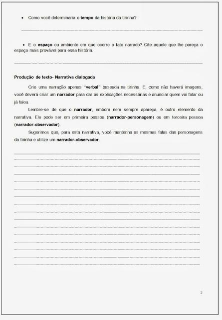Atividades de Produção de Texto - Os formatos dos textos