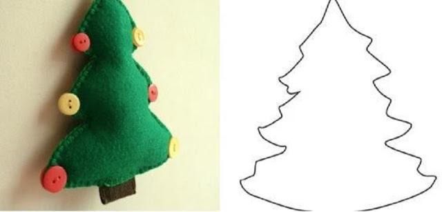 MOLDES: Árvore de natal em feltro