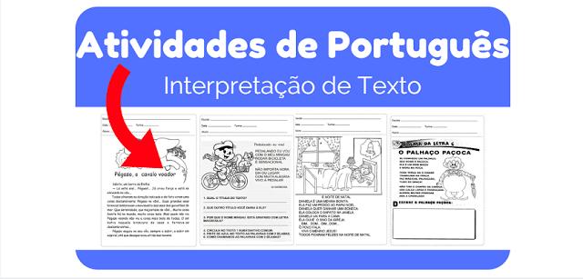 Atividades de Português - Interpretações de Texto