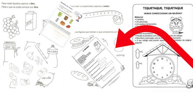 Noções de medidas - Atividades para Imprimir
