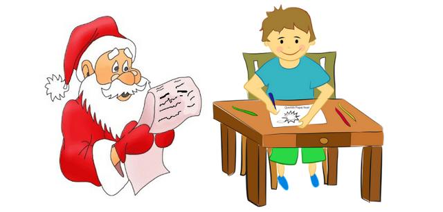 Uma carta para o papai noel e faça a criação de textos em sala de aula. Modelos de carta.