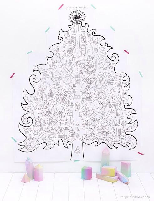 Faça você mesmo: árvore de Natal gigante para colorir