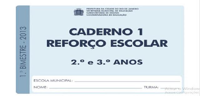 BAIXE EM PDF - Caderno reforço escolar para 2º e 3º ano do Ensino Fundamental