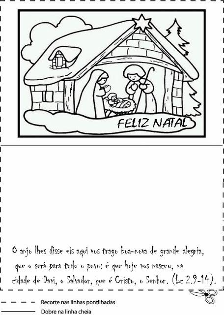 Cartões de natal para colorir ensino fundamental