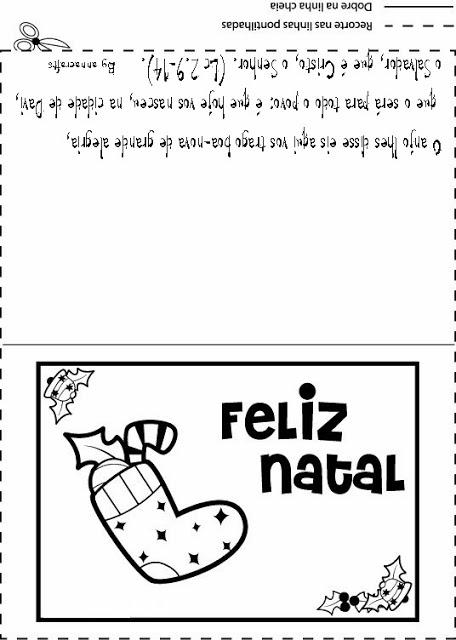cartao de natal para colorir ensino fundamental 2 sÓ escola