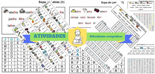 Atividade de português - Dificuldades ortográficas