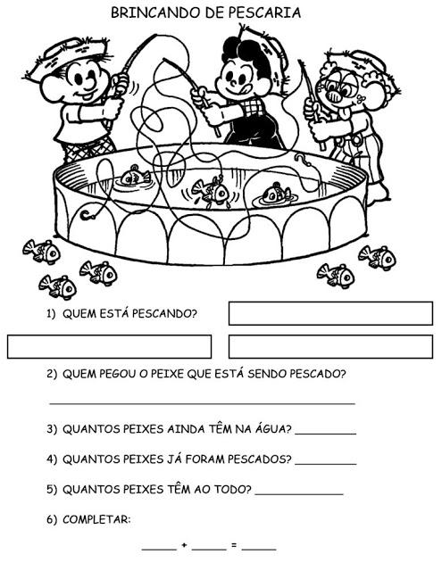Atividade 2° Ano - Atividade com a Turma da Mônica - Complete 2