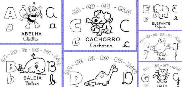 Baixe em PDF e WORD Baixe Alfabeto Família Silábica completo.