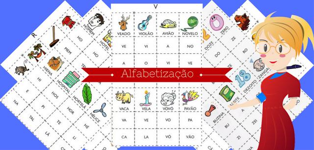 Bingo Silabico Alfabetizacao So Escola
