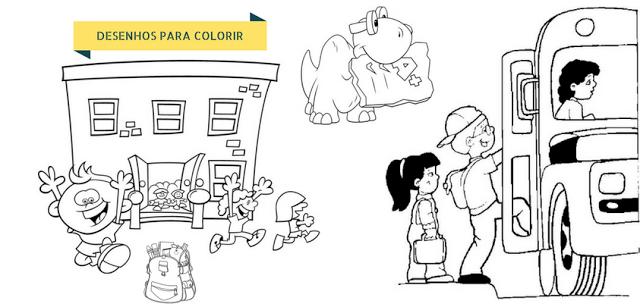 Desenhos para Colorir - Volta às aulas