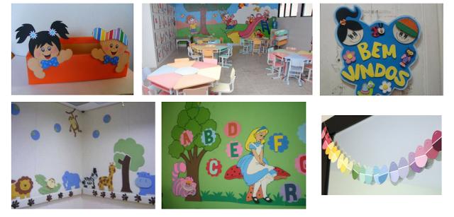 Como pode ser decorada a sala de aula
