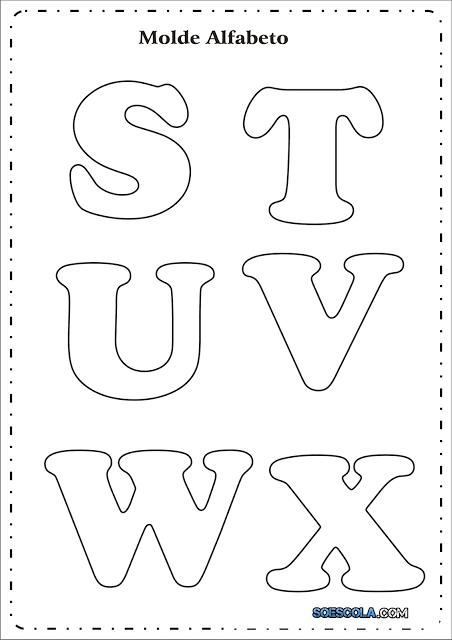 Moldes de letras em EVA que servem para diversas finalidades, além de enfeitar salas de aulas e festas de aniversários prontas para imprimir