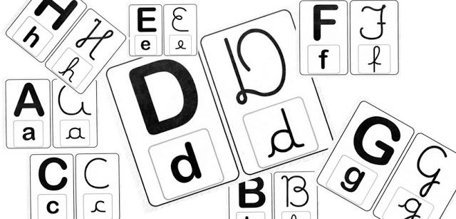 Alfabeto de parede com todos os tipos de letras