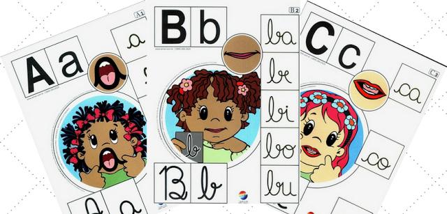 Nesta postagem trago para vocês um modelo de alfabeto de parede pronto para imprimir, com letras minusculas e maiúsculas e cursivas.