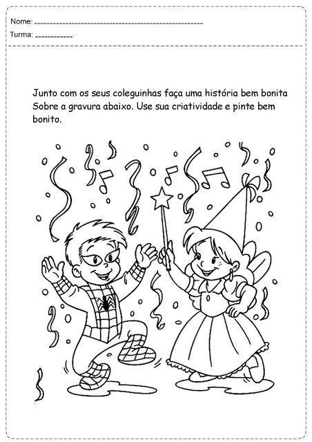 Atividades carnaval para educação infantil