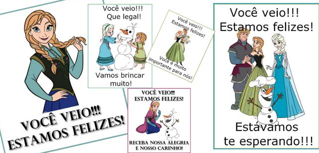 Cartazes de boas vindas Frozen