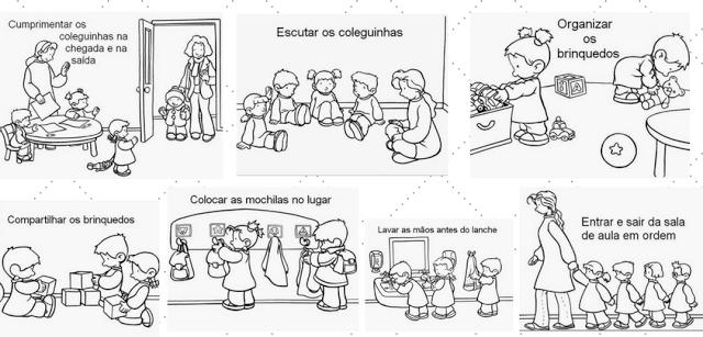 Imagens De Rotina Para Imprimir E Enfeitar Sua Sala So Escola