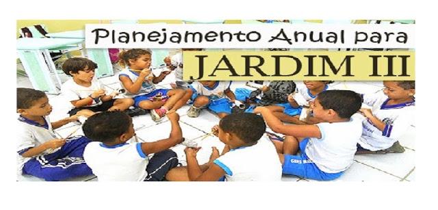 Planejamento anual para Jardim III