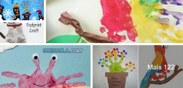130 Atividades De Pinturas A Partir Dos Pes E Maos So Escola