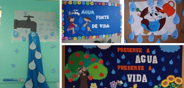 40 ideias de Mural para Dia Mundial da Água