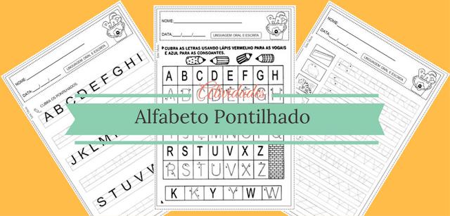 Atividades Alfabeto Pontilhado para imprimir