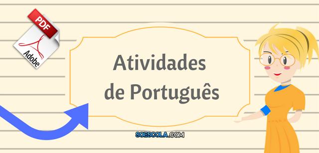 Baixe Atividades de português para o 4° ano em PDF