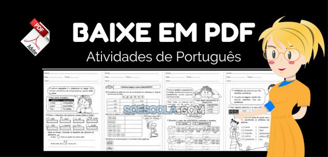 Atividades de português para 3° ano