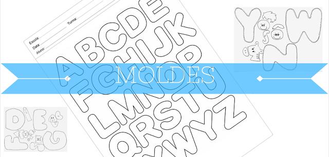 Moldes de Letras em Eva para imprimir – As Letras em EVA servem para diversas finalidades, além de enfeitar salas de aulas e festas de aniversários.